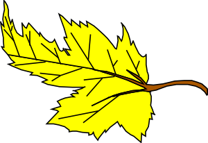 Yellow Leaf clip art Free Vector / 4Vector.