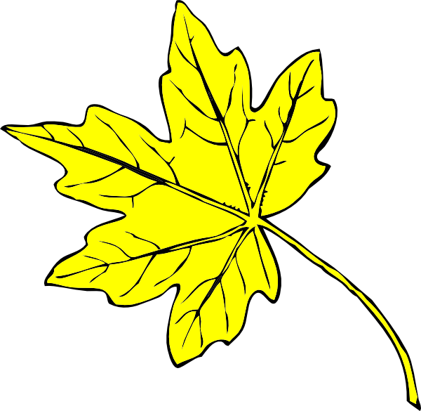 Yellow Leaf Clip Art at Clker.com.