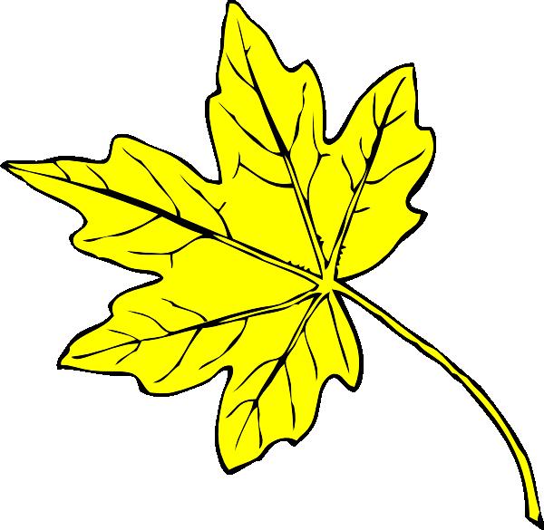 Yellow Leaf Clip Art at Clker.com.