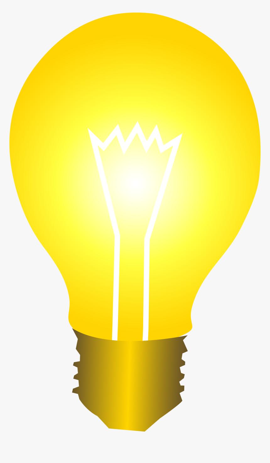 Bright Yellow Idea Light Bulb Hd Photos Clipart.