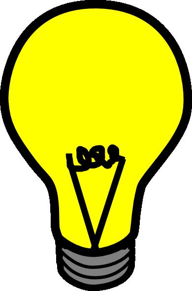 Yellow Light Bulb Clip Art at Clker.com.
