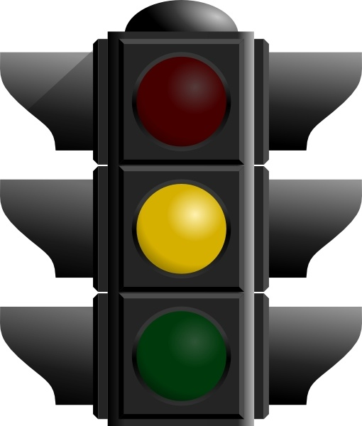 Traffic Light: Yellow clip art Free vector in Open office drawing.