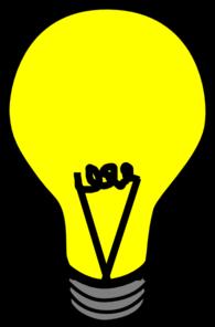 Yellow Light Bulb Clipart.