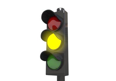 Yellow traffic light clipart.