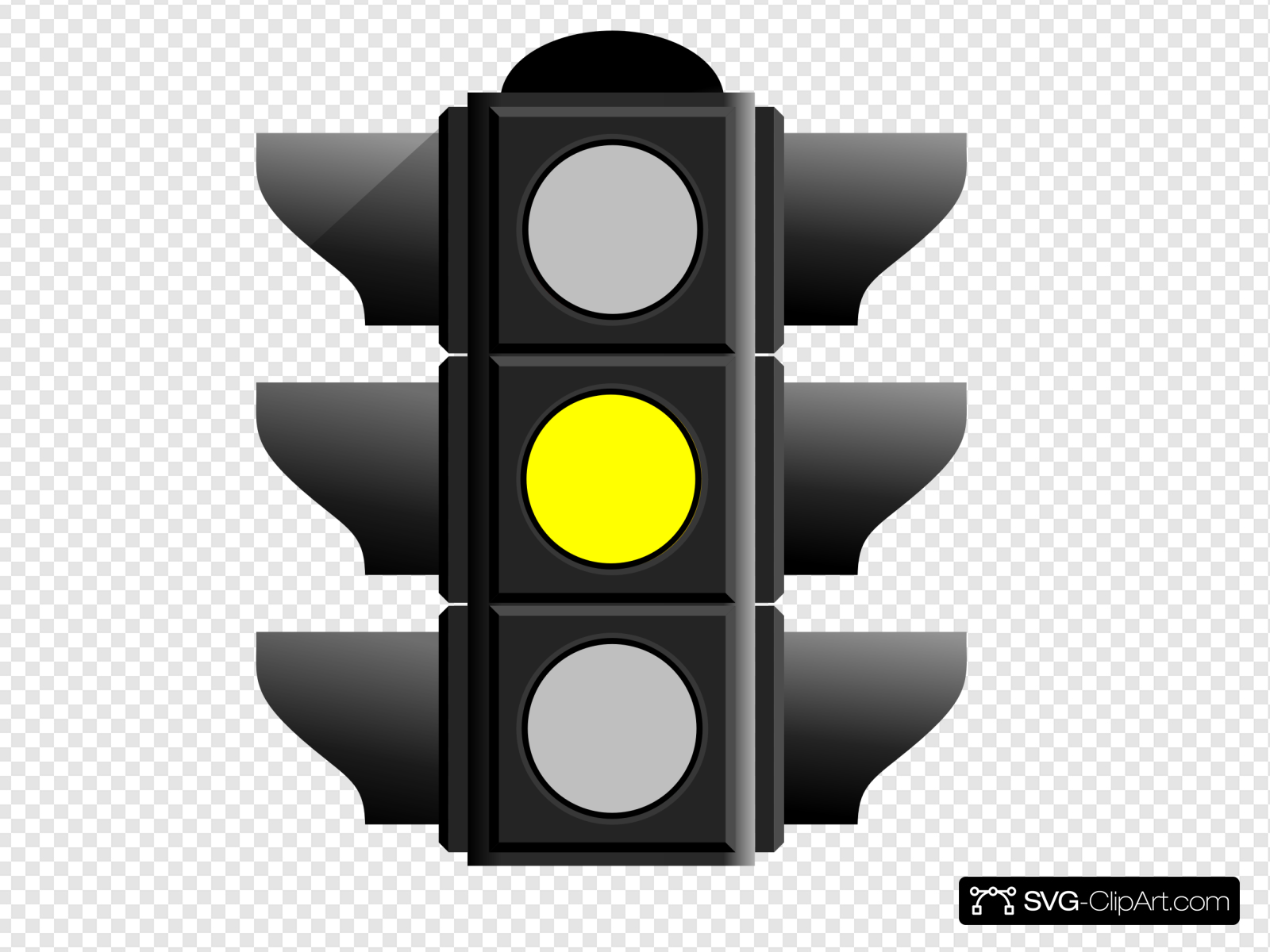 Yellow Traffic Light Clip art, Icon and SVG.