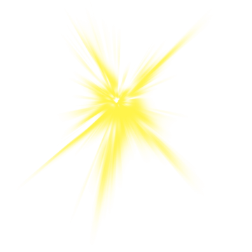 Yellow Light Effect PNG Images.