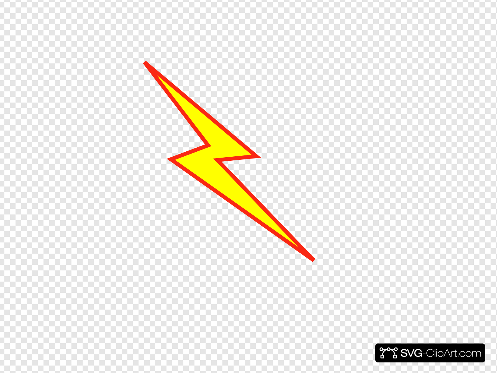 Red And Yellow Lightning Bolt Clip art, Icon and SVG.