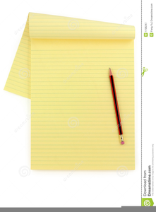 Clipart Yellow Lined Paper.