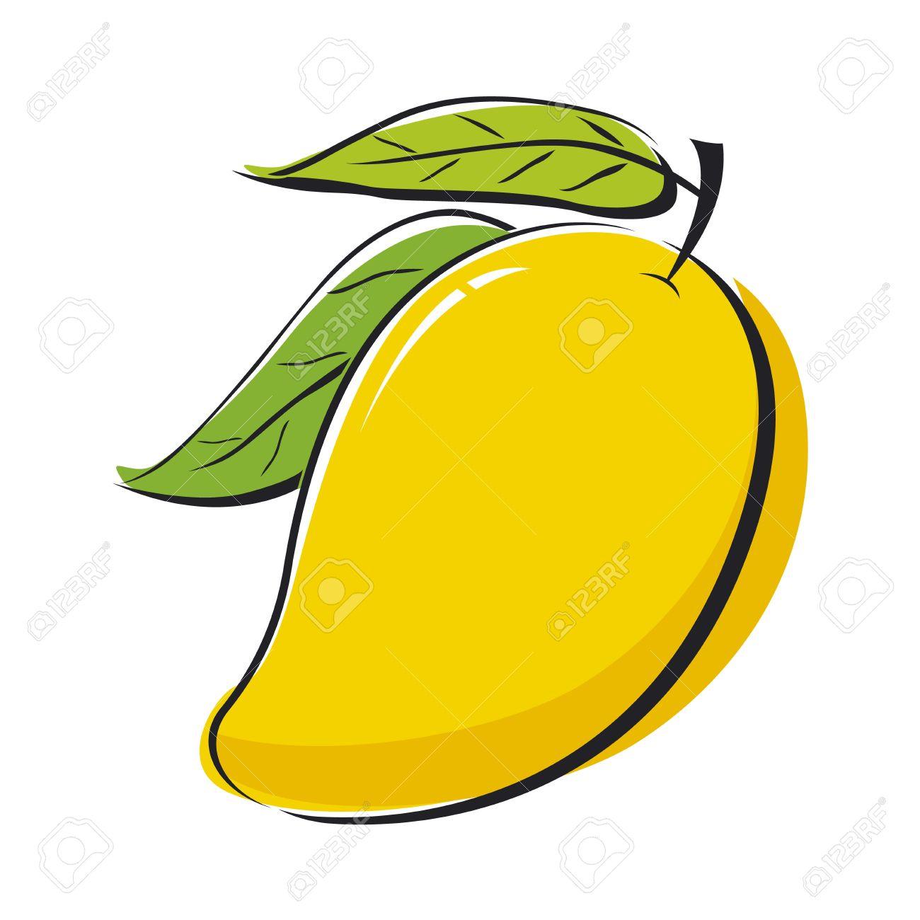 Yellow mango clipart.