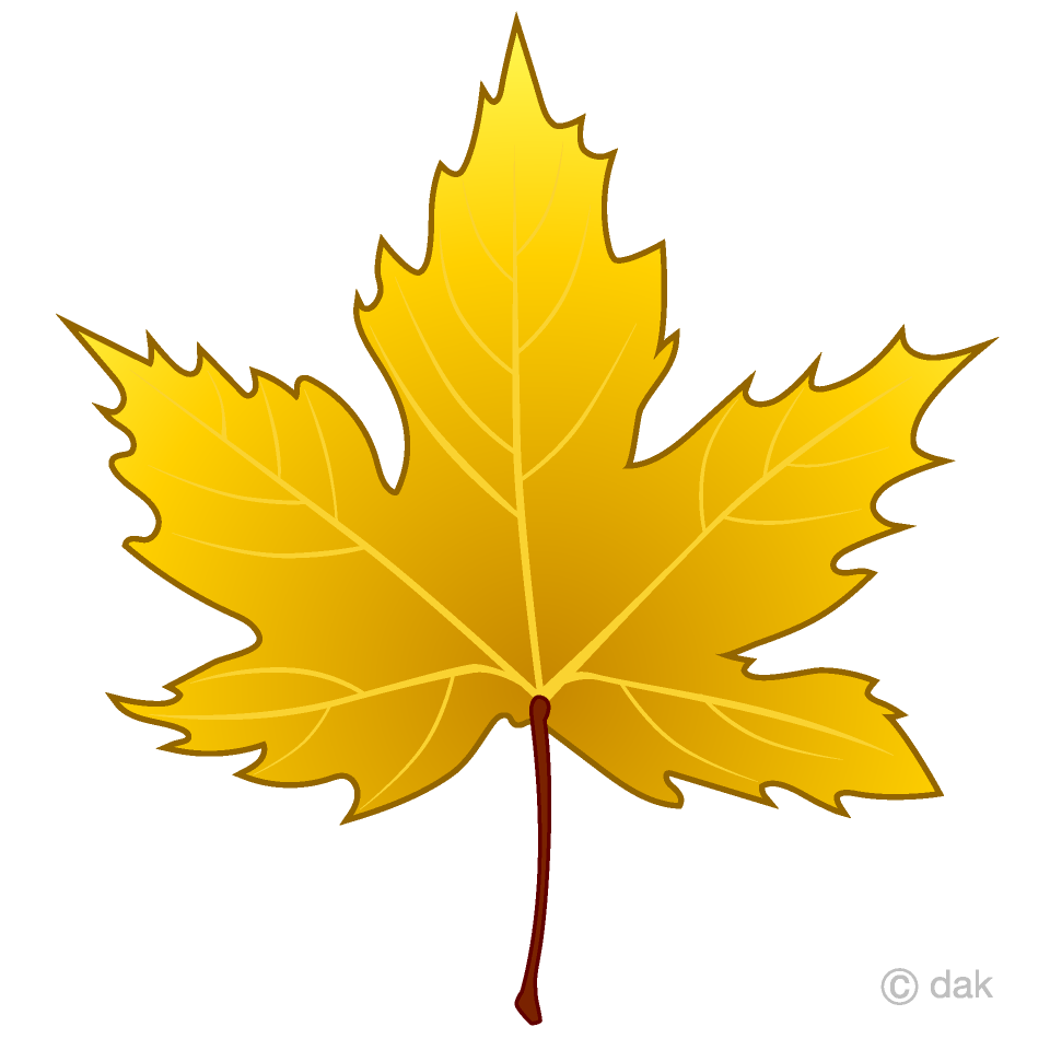 Free Yellow Maple Leaf Clipart Image|Illustoon.