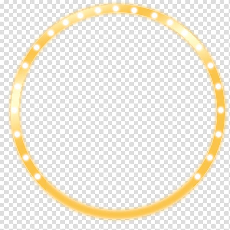 Round yellow wreath with lights illustration, Light Gradient.
