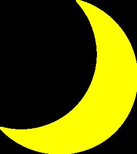 Yellow Moon Clip Art.