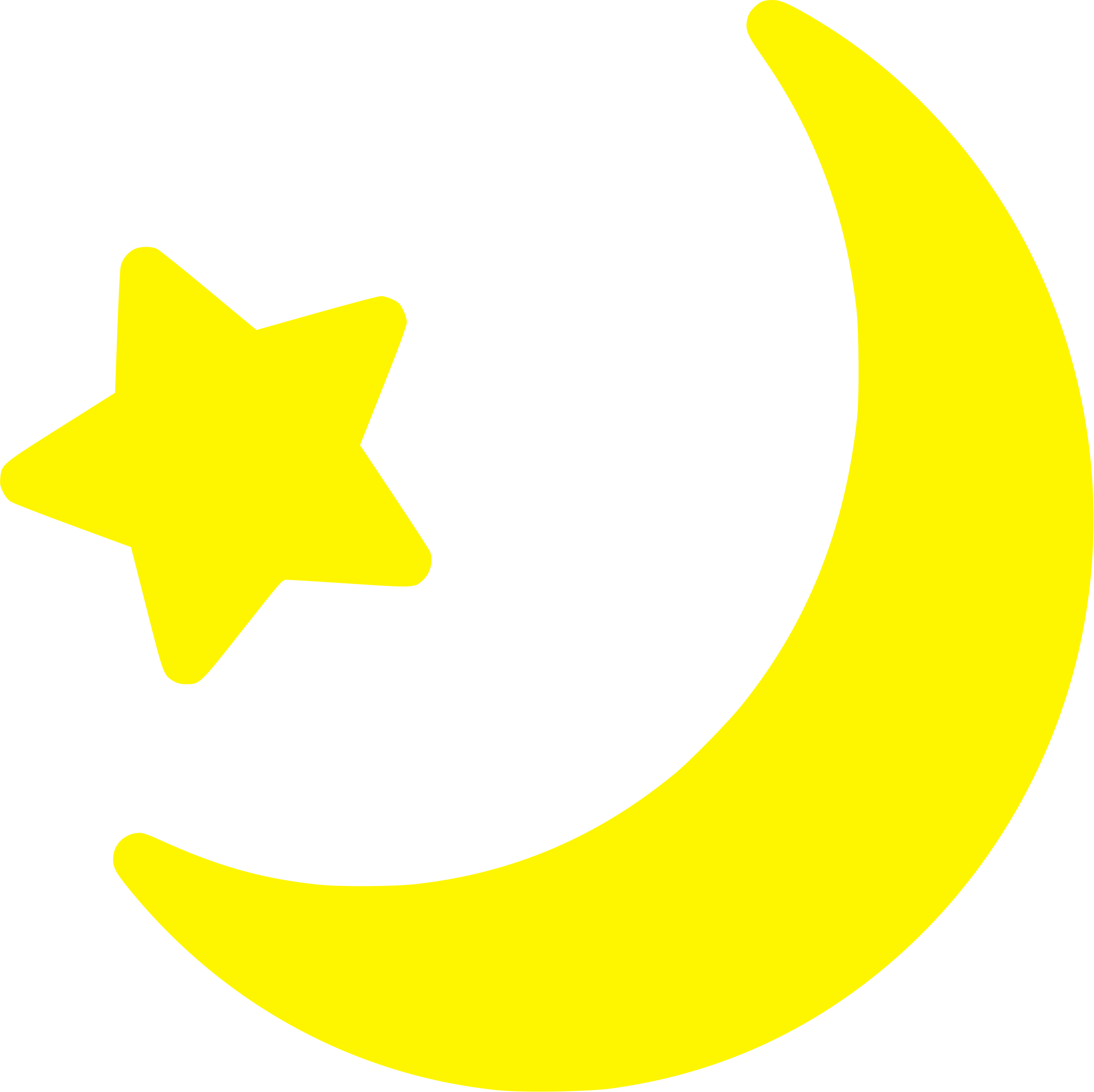 Yellow Moon And Star icon.