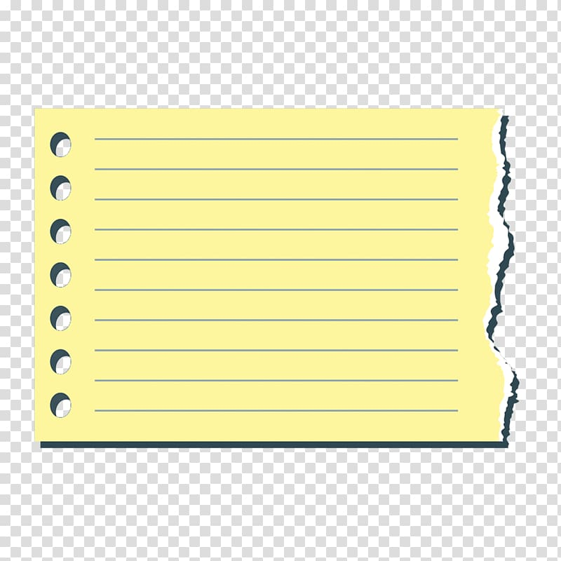 Illustration of yellow inline paper, Paper Notebook Post.