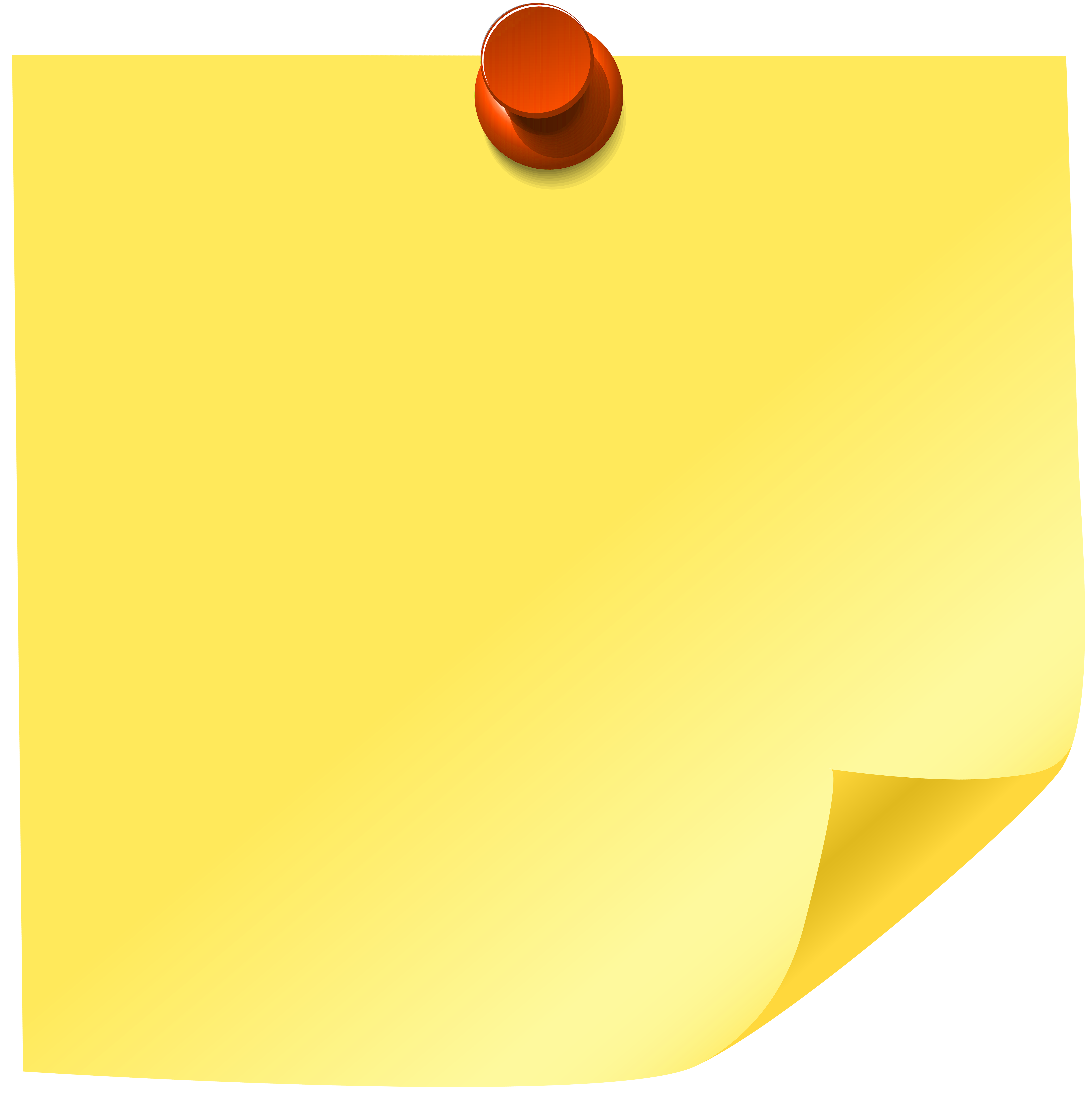 Yellow Sticky Note PNG Clip Art.