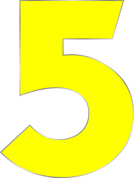 Number 5 Clip Art at Clker.com.