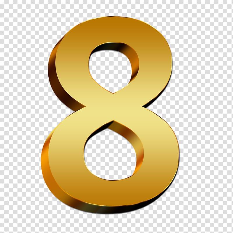 Number , number 8 transparent background PNG clipart.