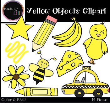 Yellow Color Objects Clipart.