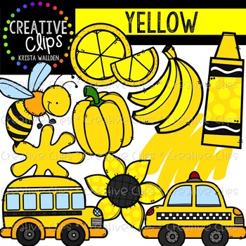 Yellow Objects Clipart {Creative Clips Clipart} in 2019.