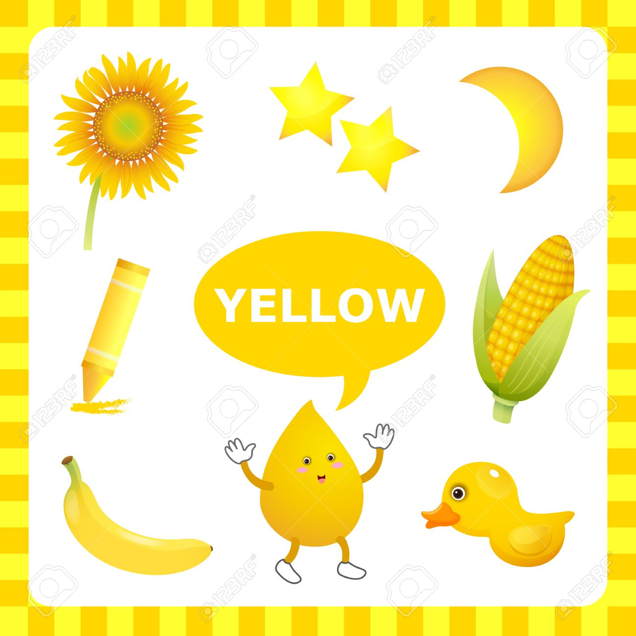 Learn The Color Yellow things that are yellow color.