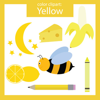 Color Clip art: Yellow objects.