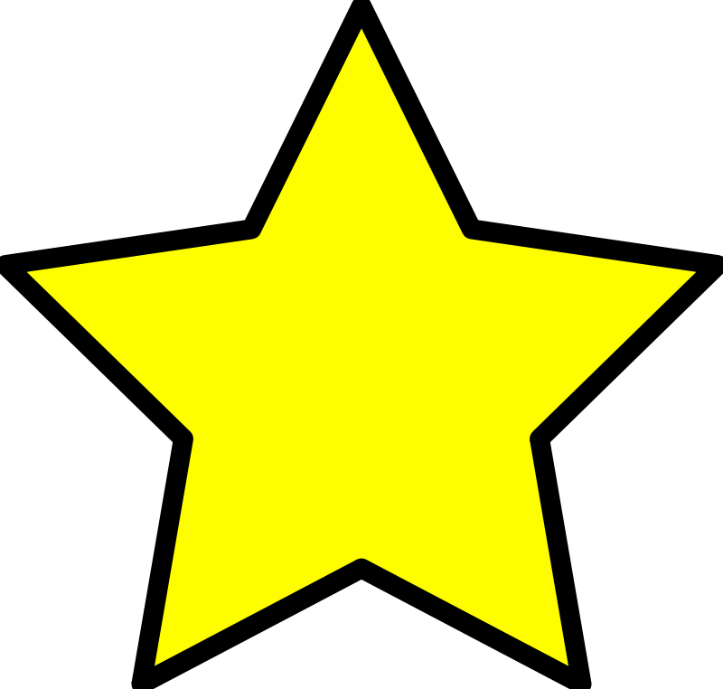 Free Clipart: Yellow star.