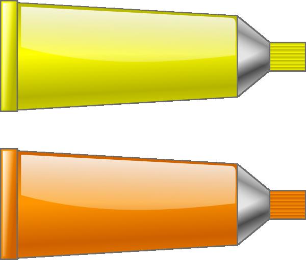 Color Tube Yellow Orange Clip Art at Clker.com.