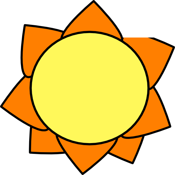 Yellow Orange Sun Clip Art at Clker.com.
