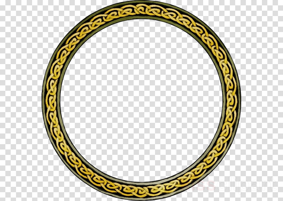 yellow oval circle clipart.