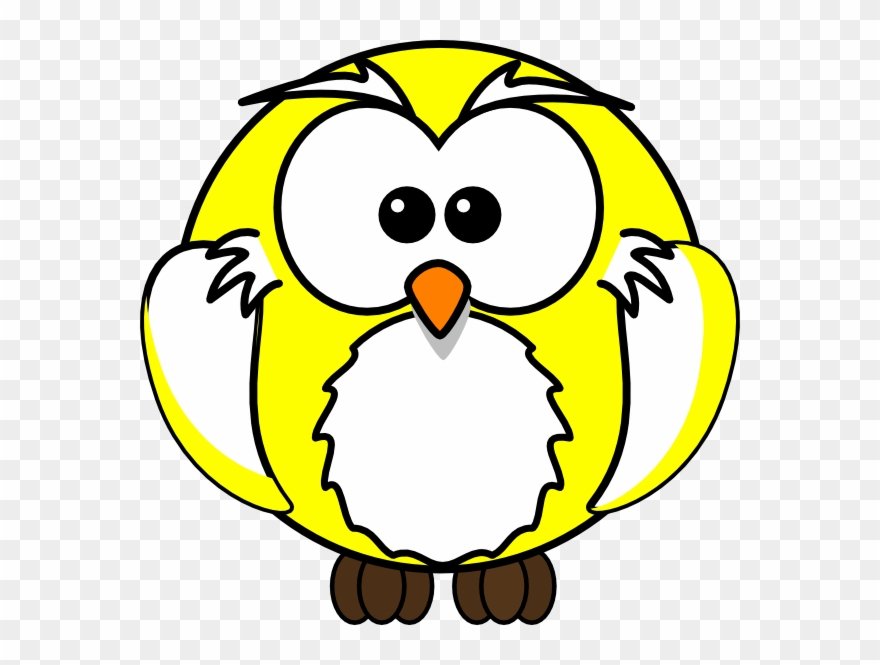 Yellow Owl Clipart.