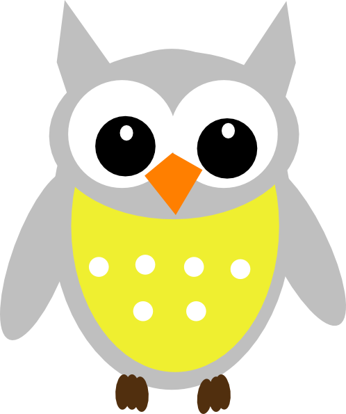 Yellow Owl PNG Clip arts for Web.