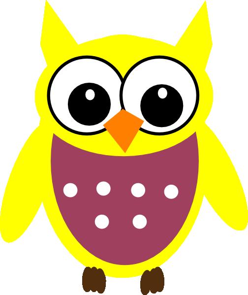 Yellow Owl Clip Art at Clker.com.