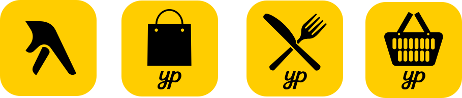 Yellow Pages iconography design and illustrations.