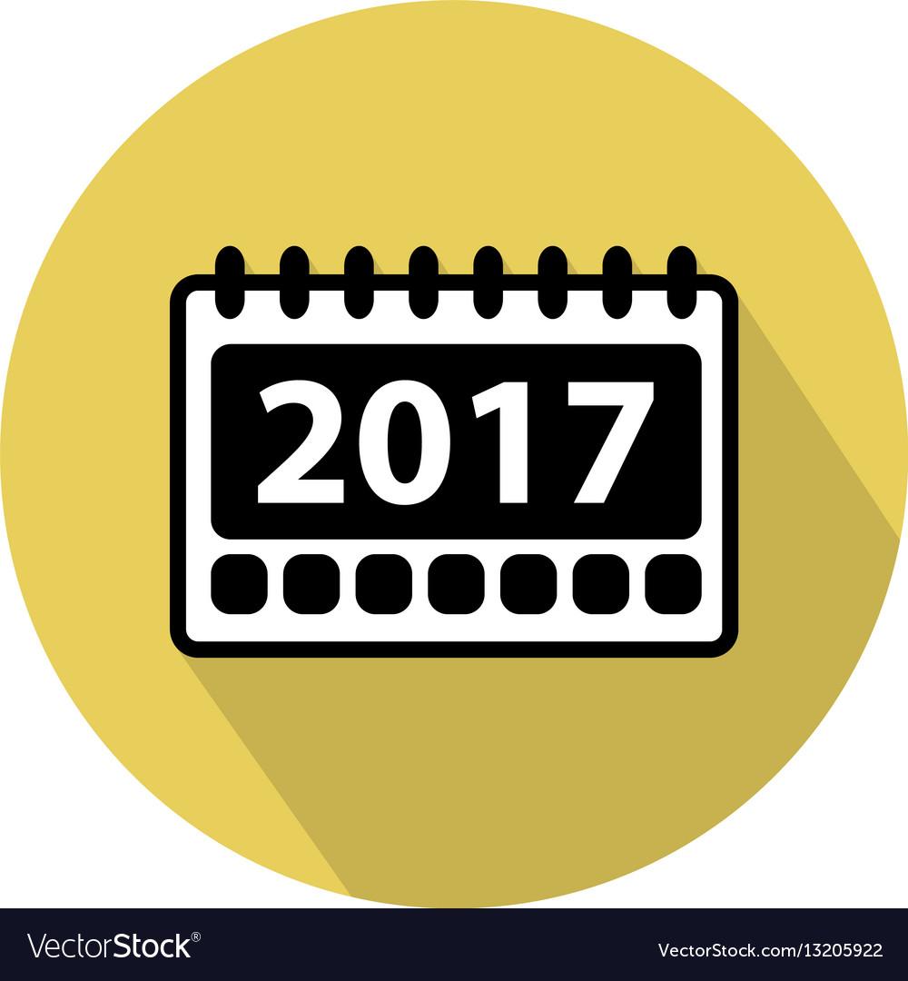 Simple 2017 calendar icon.
