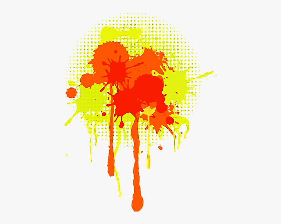 red #yellow #paint #splatter #remixit.