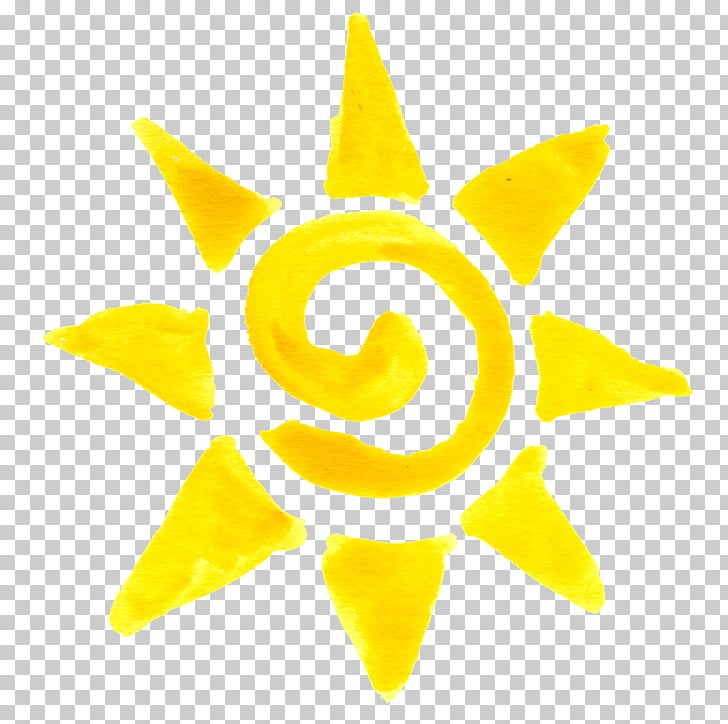 Drawing Watercolor painting, sun , yellow sun PNG clipart.