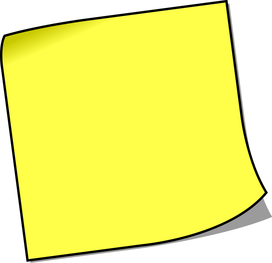 Yellow Notebook Paper Clipart.