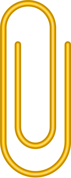Yellow Paper Clip Vector Data for Free.