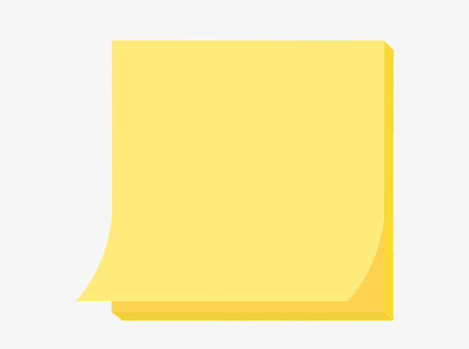 Yellow Postit Post It Sticky Note Note Paper, Cliparts.