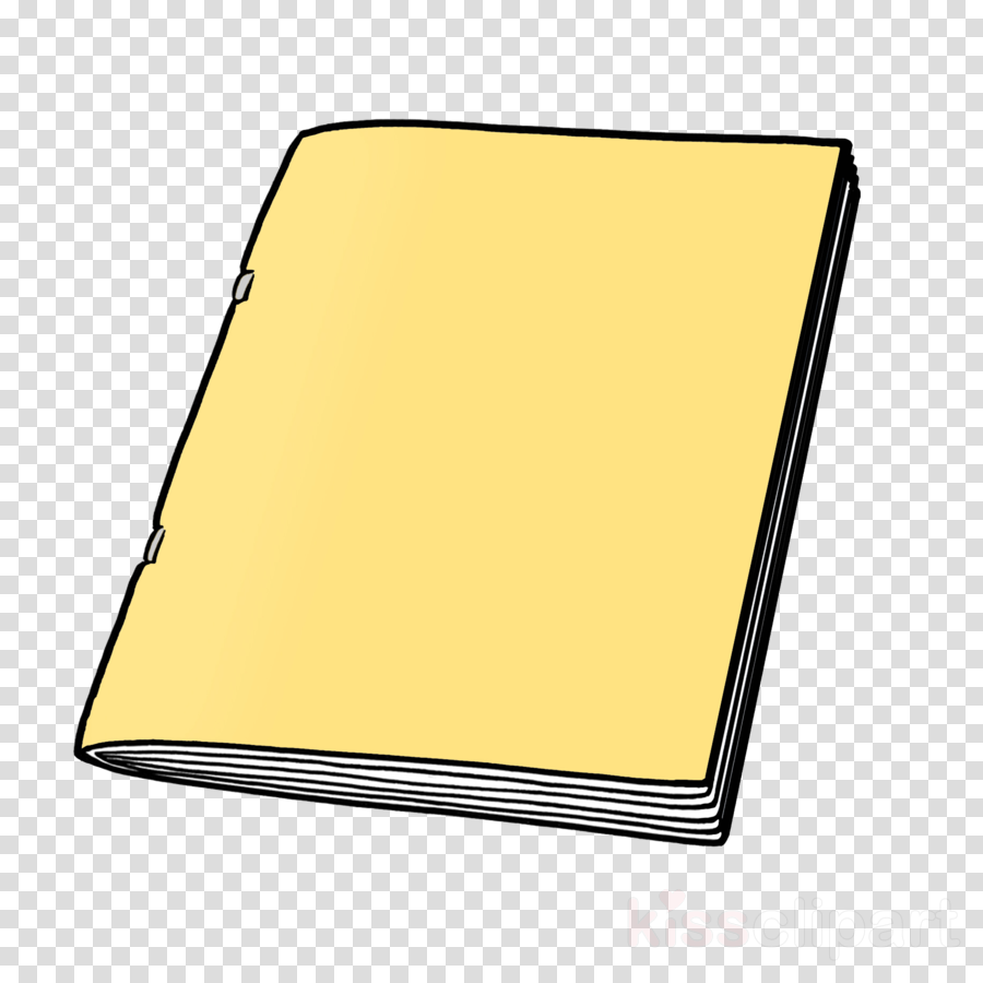 yellow paper product rectangle clipart.