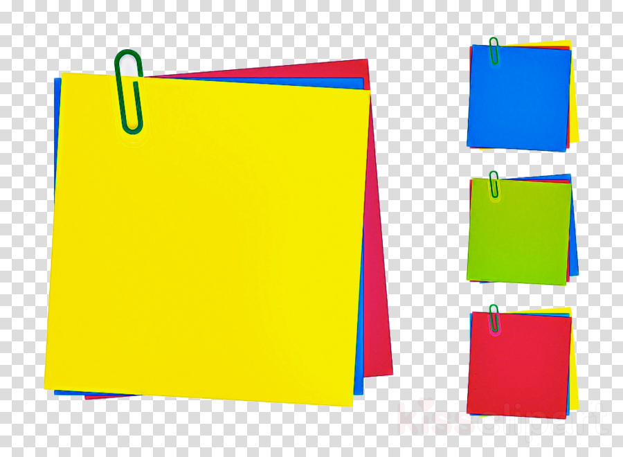 yellow paper product rectangle paper clipart.