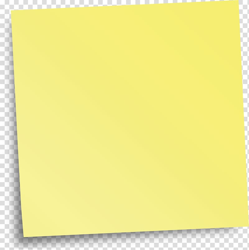 Paper Yellow Angle, Sticky note transparent background PNG.