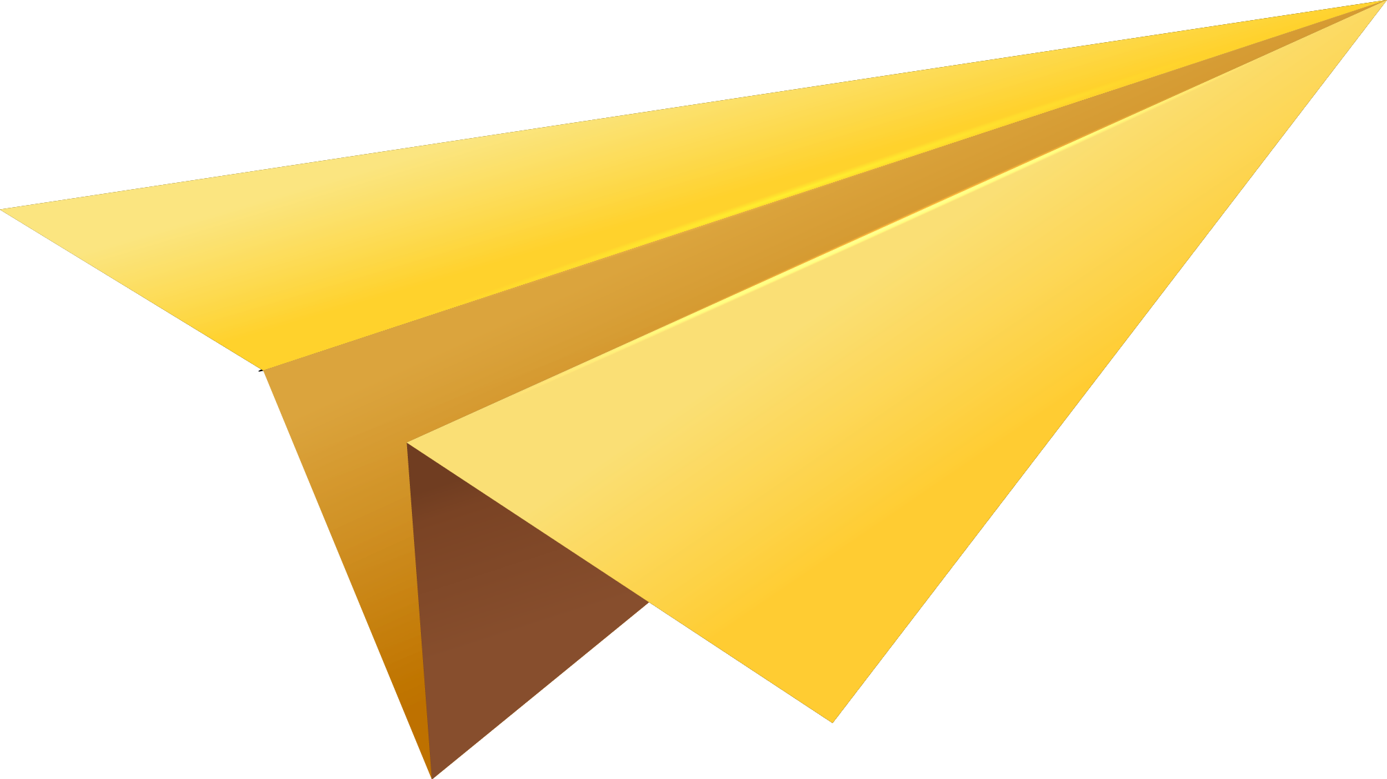 Download Yellow Paper Plane PNG Image for Free.