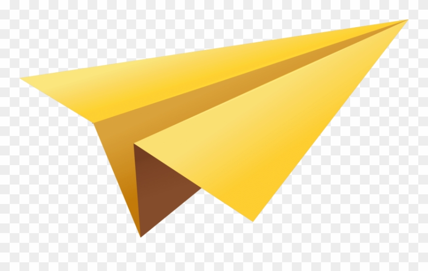 Free Png Yellow Paper Plane Png Images Transparent.