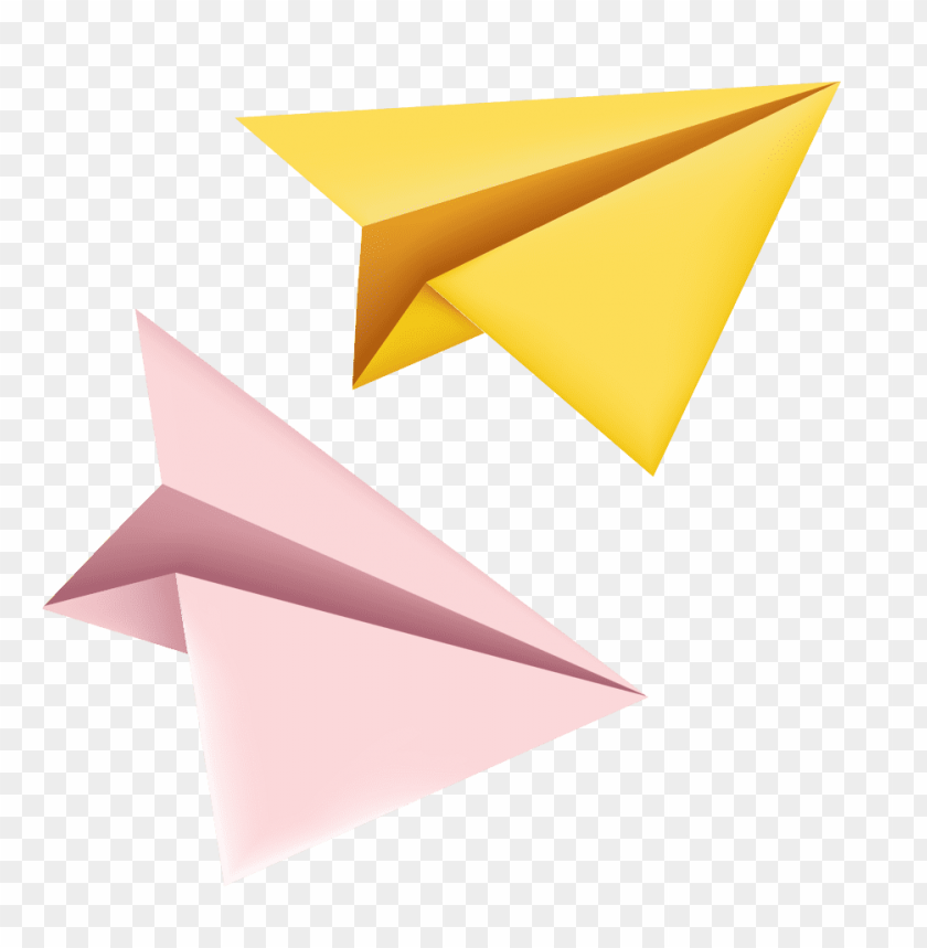 Download yellow paper plane clipart png photo.