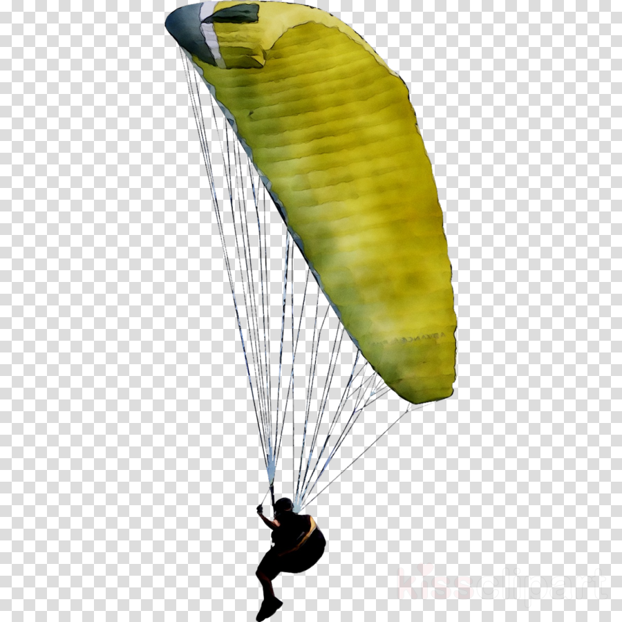 wing clipart Parachuting Parachute Yellow clipart.
