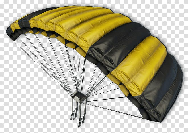Yellow and black parachute, Yellow and Black Parachute.