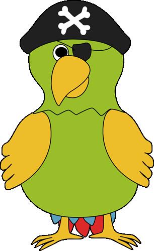 Pirate Parrot Clip Art.