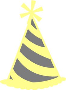 Yellow Gray Party Hat Clip Art at Clker.com.
