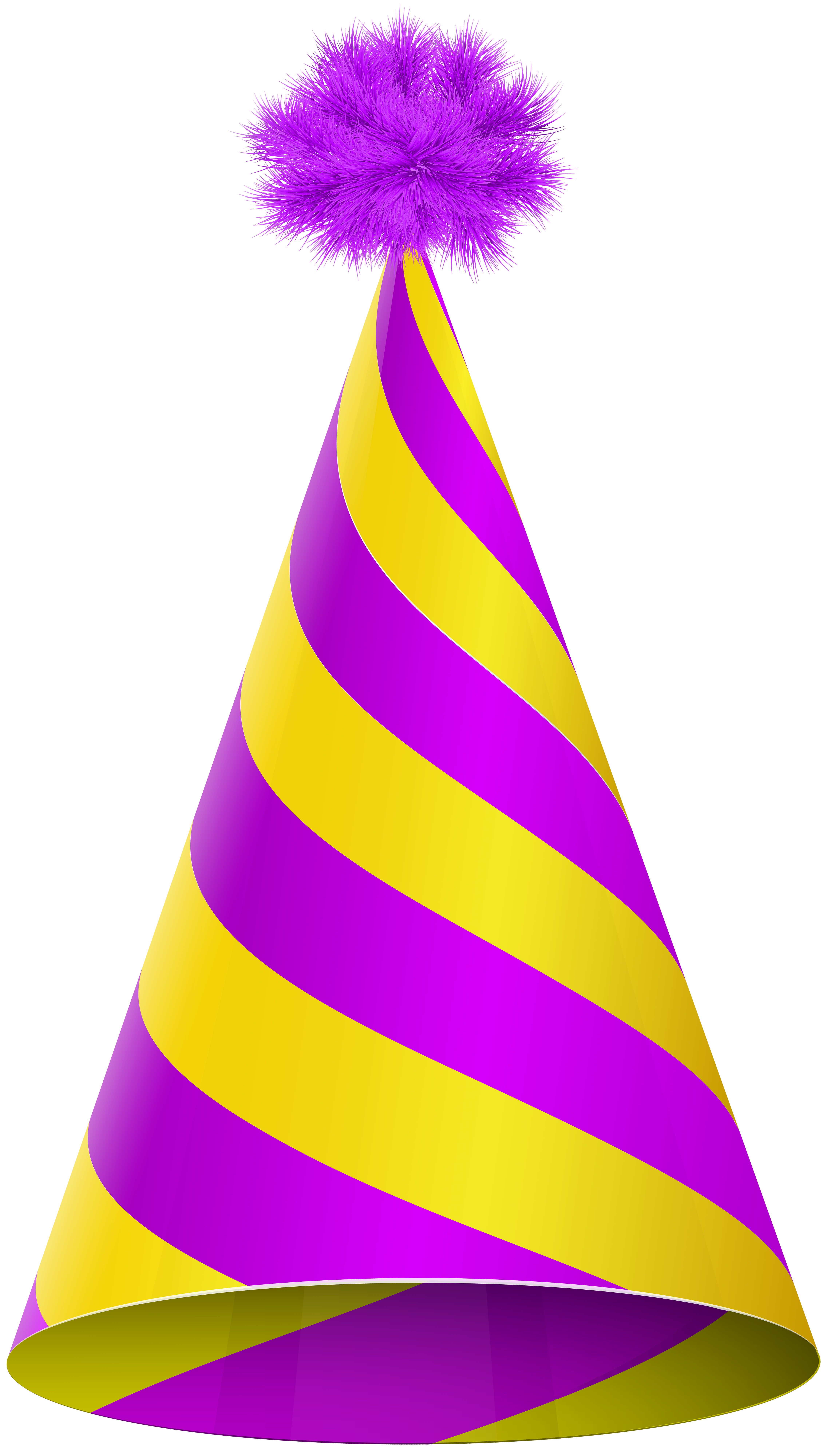 Party hat purple yellow transparent clip art image gallery.